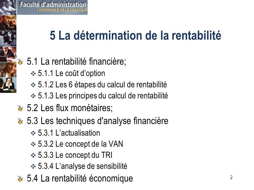 1 4 Lanalyse des avantages et des coûts 4.1 Avantages financiers et économiques; 4.2 L évaluation des avantages financiers 4.3 L évaluation des avantages économiques; 4.4 L évaluation des coûts