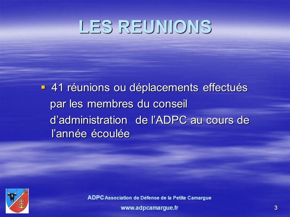 14 Assemblée générale du 9 avril 2010 Rapport moral de lADPC (2)