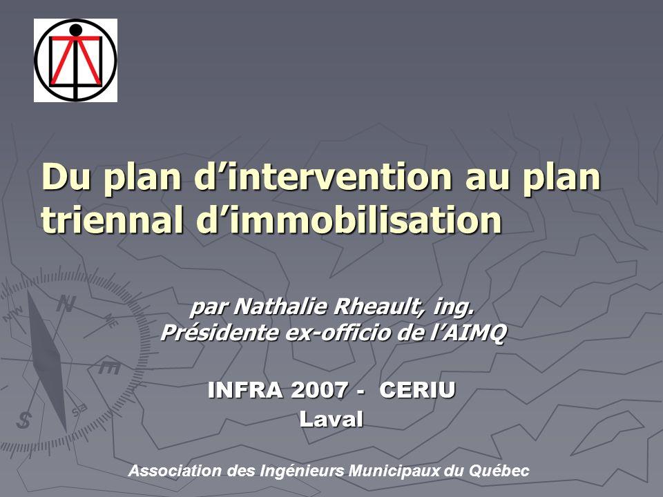 Association des Ingénieurs Municipaux du Québec par Nathalie Rheault, ing.