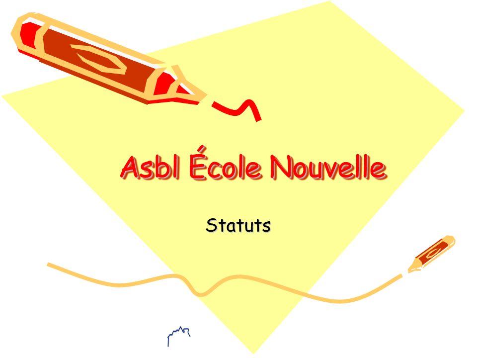 05-11 Description L association sans but lucratif L Ecole Nouvelle a été constituée en 1926.