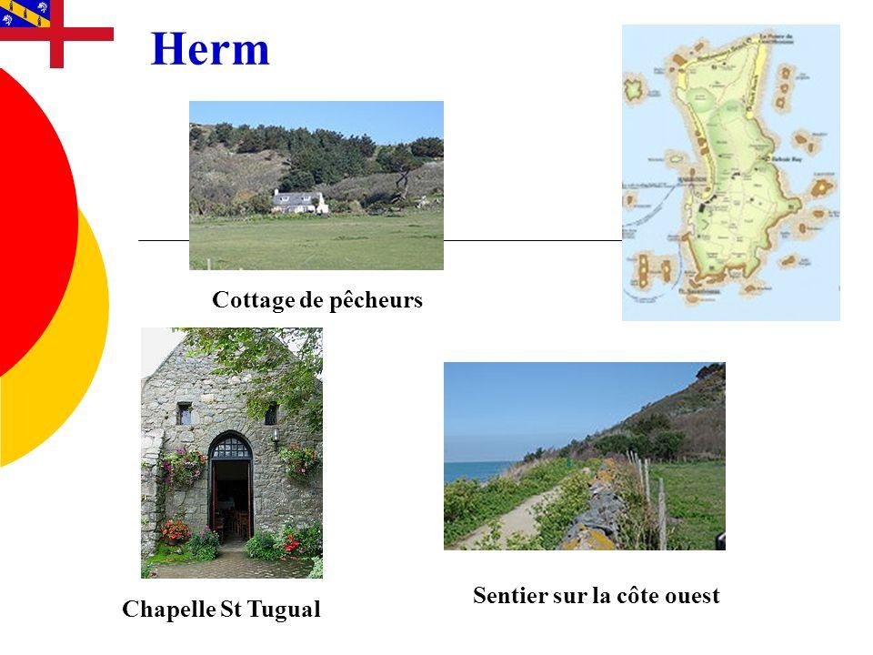Herm Sentier sur la côte ouest Cottage de pêcheurs Chapelle St Tugual