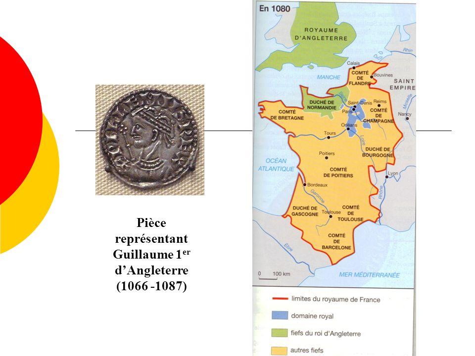 Pièce représentant Guillaume 1 er dAngleterre (1066 -1087)