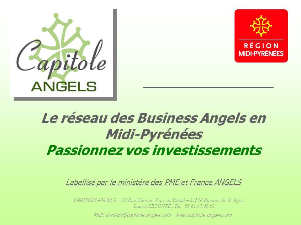 Le réseau des Business Angels en Midi-Pyrénées Passionnez vos investissements Labellisé par le ministère des PME et France ANGELS CAPITOLE ANGELS - -2
