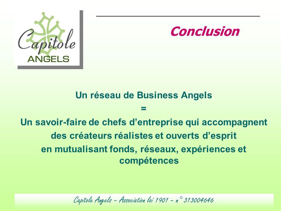 Un réseau de Business Angels = Un savoir-faire de chefs dentreprise qui accompagnent des créateurs réalistes et ouverts desprit en mutualisant fonds,