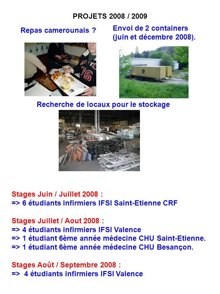 Stages Juin / Juillet 2008 : => 6 étudiants infirmiers IFSI Saint-Etienne CRF Stages Juillet / Aout 2008 : => 4 étudiants infirmiers IFSI Valence => 1