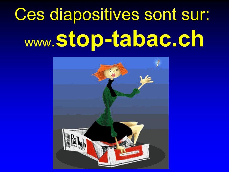 Ces diapositives sont sur: www. stop-tabac.ch