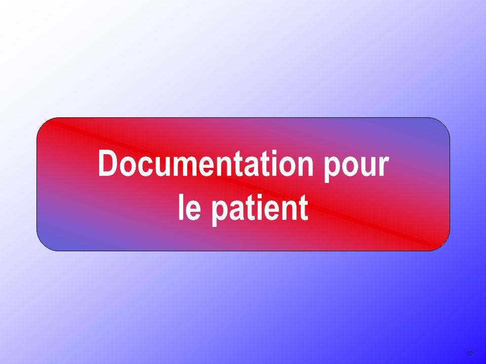Documentation pour le patient 22