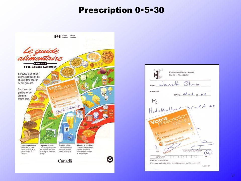 Prescription 0530 27