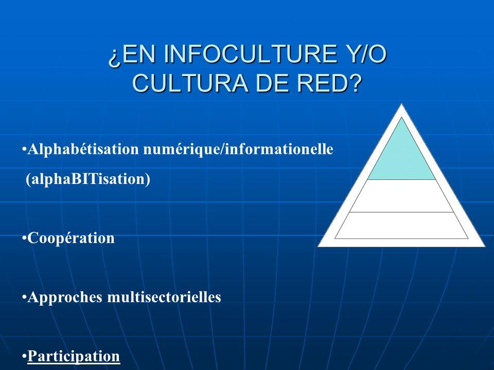 ¿EN INFOCULTURE Y/O CULTURA DE RED.