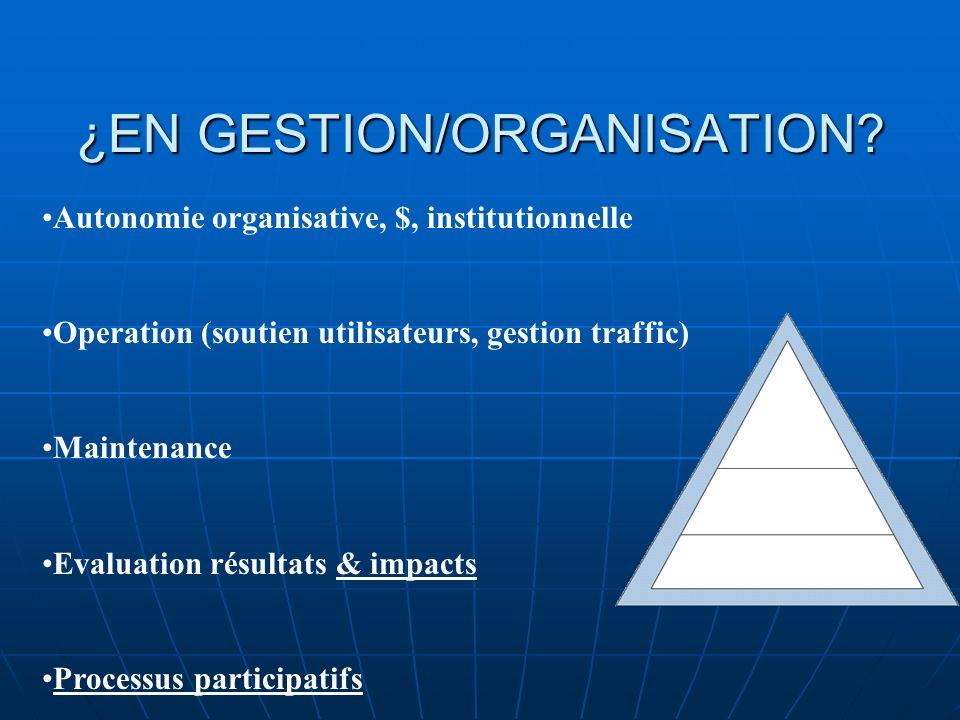 ¿EN GESTION/ORGANISATION.