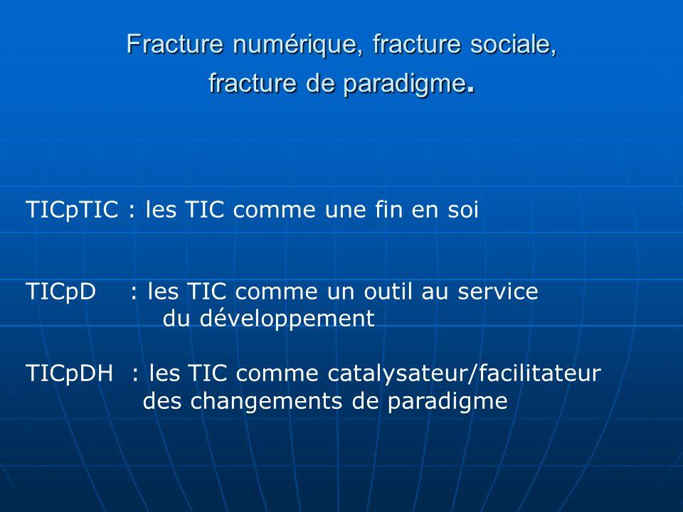 Fracture numérique, fracture sociale, fracture de paradigme.