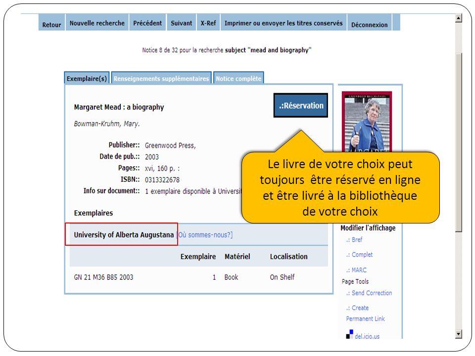 Le livre de votre choix peut toujours être réservé en ligne et être livré à la bibliothèque de votre choix Le livre de votre choix peut toujours être réservé en ligne et être livré à la bibliothèque de votre choix