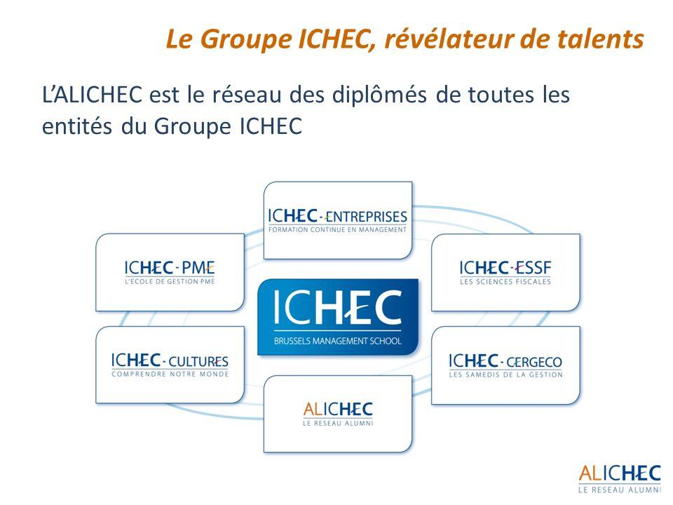 3 Le Groupe ICHEC, révélateur de talents LALICHEC est le réseau des diplômés de toutes les entités du Groupe ICHEC