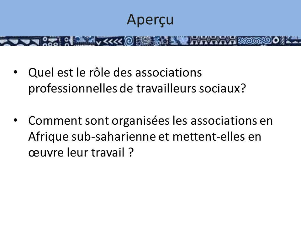 Aperçu Quel est le rôle des associations professionnelles de travailleurs sociaux.