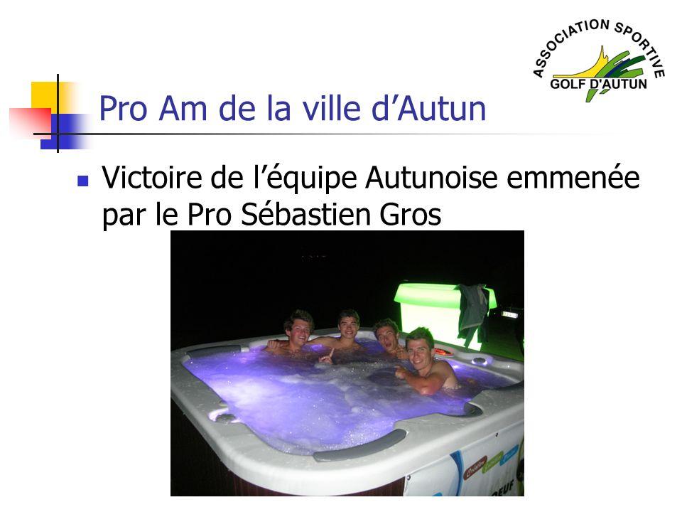 Pro Am de la ville dAutun Victoire de léquipe Autunoise emmenée par le Pro Sébastien Gros
