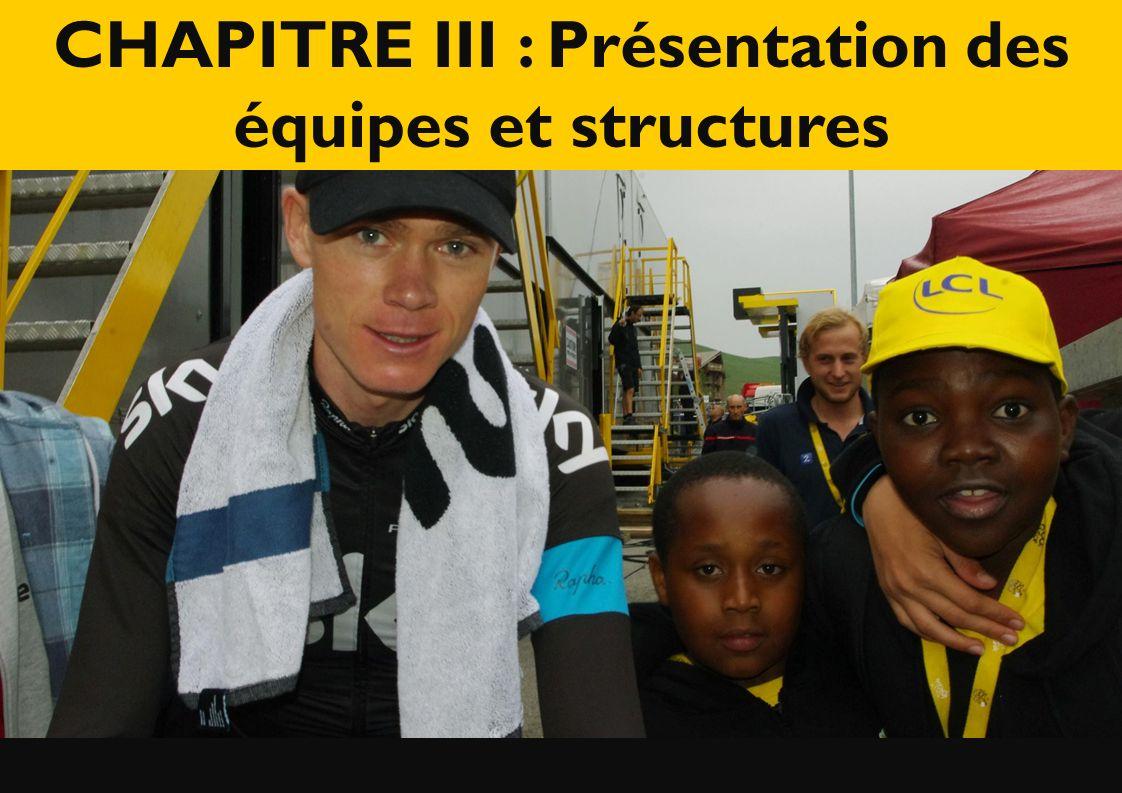 CHAPITRE III : Présentation des équipes et structures