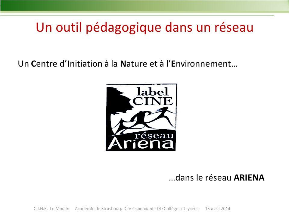 Un outil pédagogique dans un réseau Un Centre dInitiation à la Nature et à lEnvironnement… …dans le réseau ARIENA C.I.N.E.
