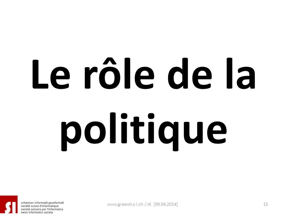 Le rôle de la politique www.greenit.s-i.ch / JK [09.04.2014]15