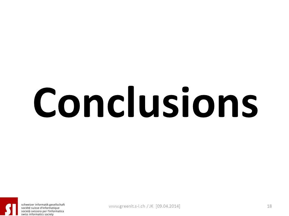 www.greenit.s-i.ch / JK [09.04.2014]18 Conclusions
