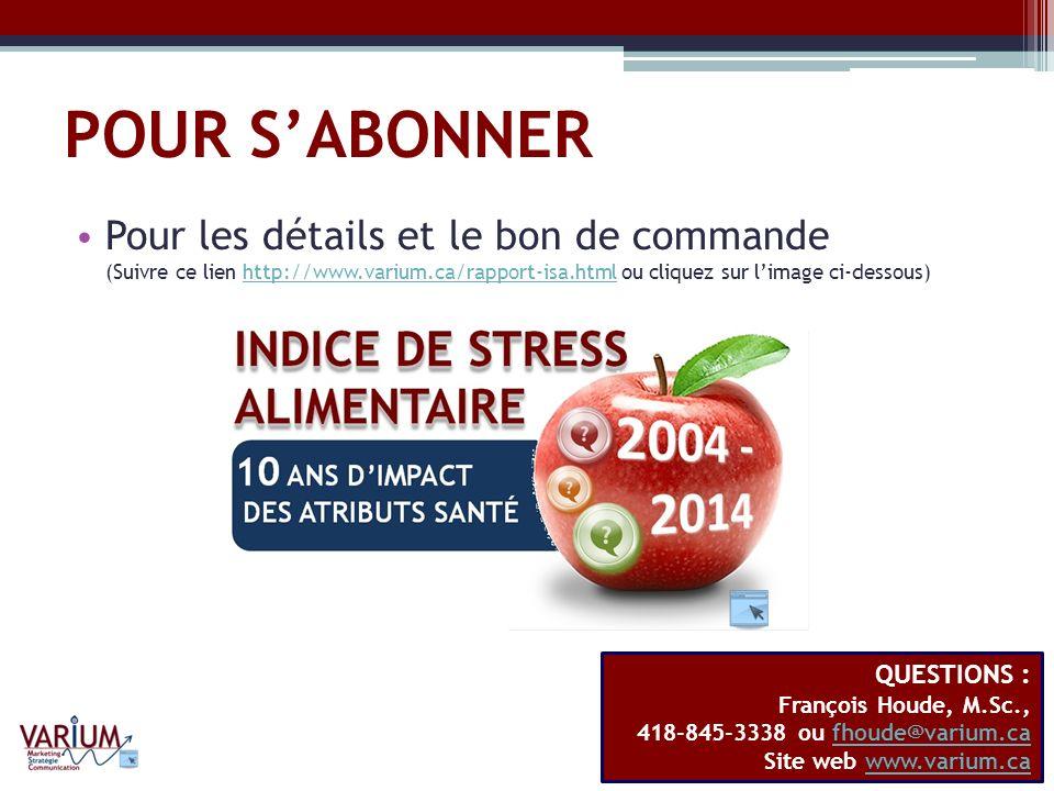POUR SABONNER Pour les détails et le bon de commande (Suivre ce lien http://www.varium.ca/rapport-isa.html ou cliquez sur limage ci-dessous)http://www