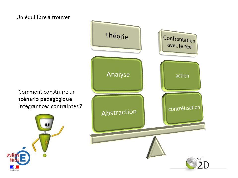 Un équilibre à trouver Comment construire un scénario pédagogique intégrant ces contraintes ?