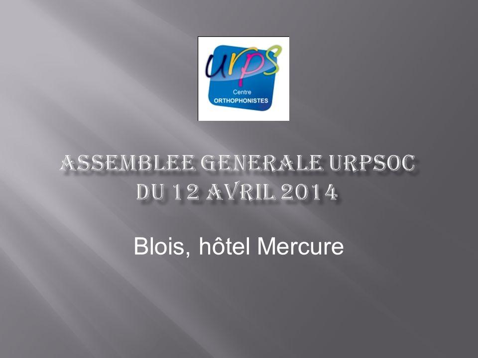 - URPSOC - Fédération des URPS du Centre Assemblée générale Bureau Groupe de travail / chute - « Conférence » des présidents dURPS Orthophonistes