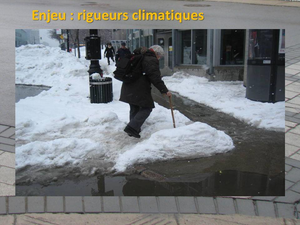 ©2011 Jean-François Bruneau, M. Sc. Enjeu : rigueurs climatiques