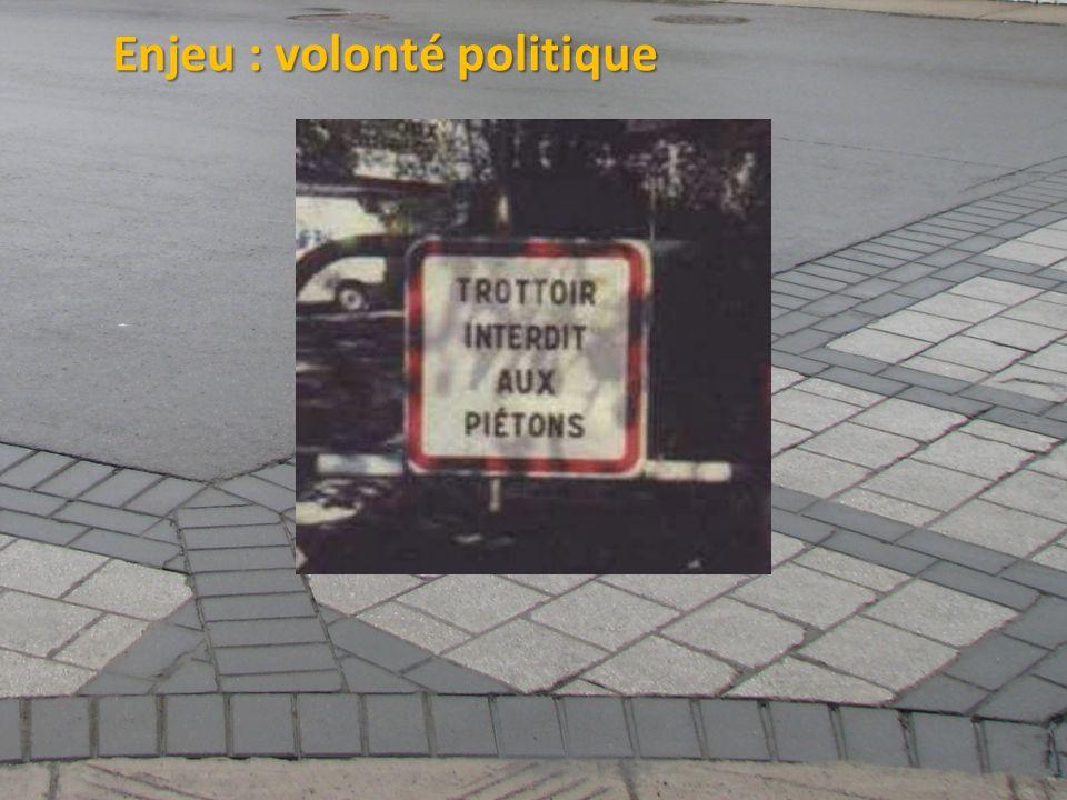 ©2011 Jean-François Bruneau, M. Sc. Enjeu : volonté politique