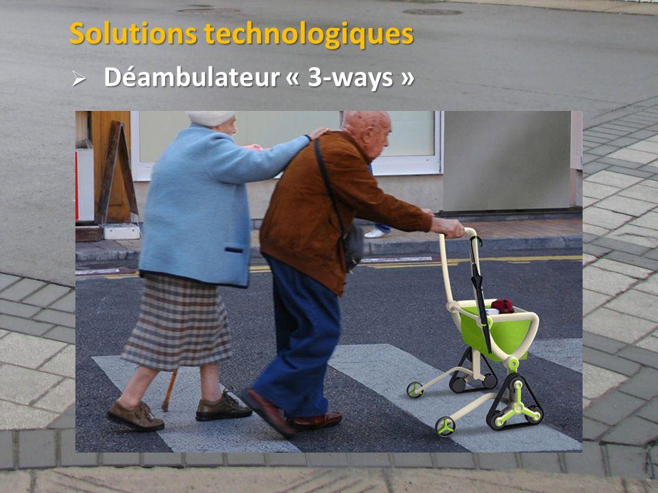 ©2011 Jean-François Bruneau, M. Sc. Solutions technologiques Déambulateur « 3-ways » Déambulateur « 3-ways »