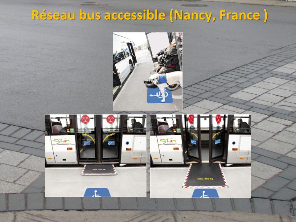 ©2011 Jean-François Bruneau, M. Sc. Réseau bus accessible (Nancy, France )