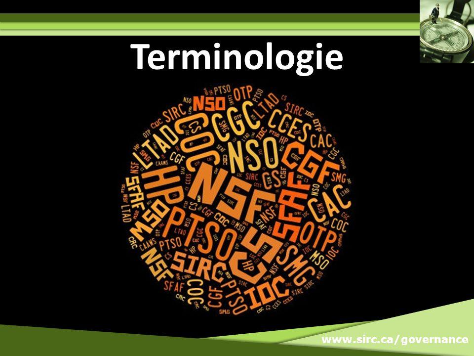 www.sirc.ca/governance Terminologie
