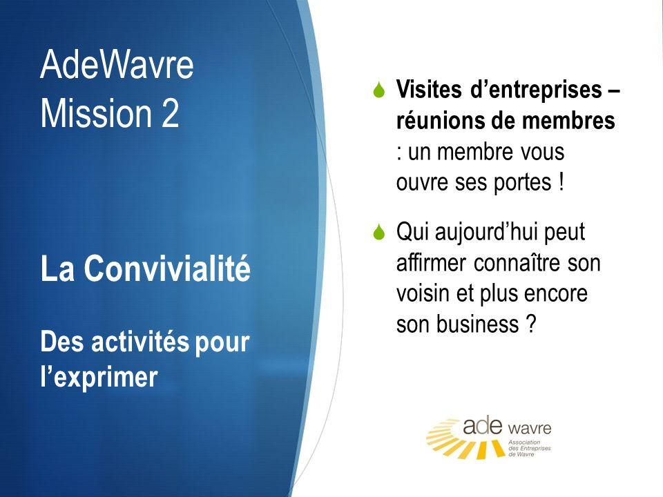 AdeWavre Mission 2 Visites dentreprises – réunions de membres : un membre vous ouvre ses portes ! Qui aujourdhui peut affirmer connaître son voisin et