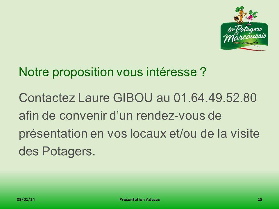 Notre proposition vous intéresse ? Contactez Laure GIBOU au 01.64.49.52.80 afin de convenir dun rendez-vous de présentation en vos locaux et/ou de la
