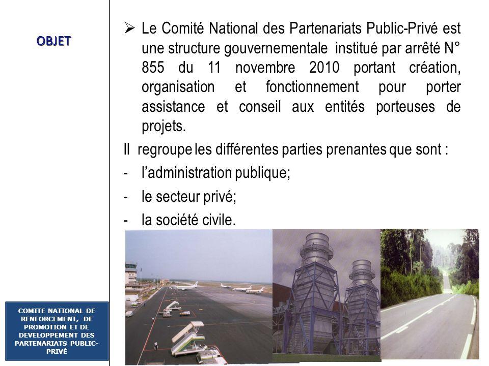 Diapo : 3 COMITE NATIONAL DE RENFORCEMENT, DE PROMOTION ET DE DEVELOPPEMENT DES PARTENARIATS PUBLIC- PRIVÉ CONTEXTE Les PPP se présente comme une alte