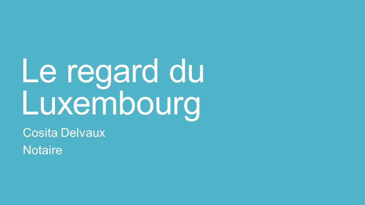 Le regard du Luxembourg Cosita Delvaux Notaire