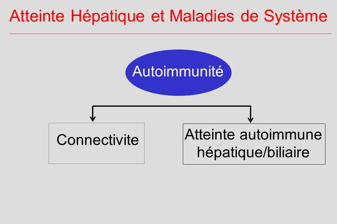Autoimmunité Atteinte Hépatique et Maladies de Système Atteinte autoimmune hépatique/biliaire Connectivite