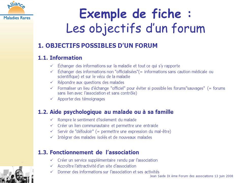 Jean Saide IX ème Forum des associations 13 juin 2008 2.