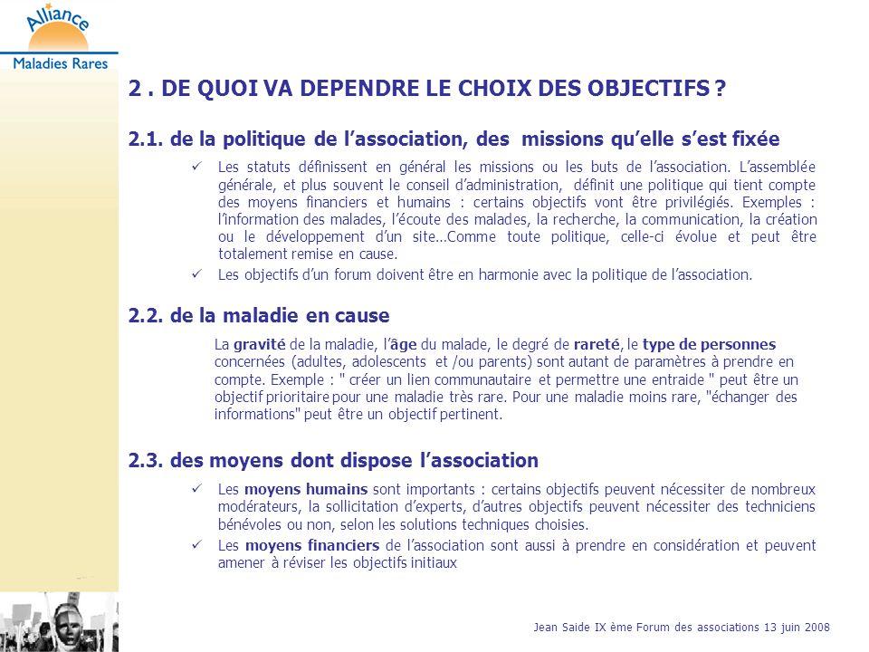 Jean Saide IX ème Forum des associations 13 juin 2008 3.