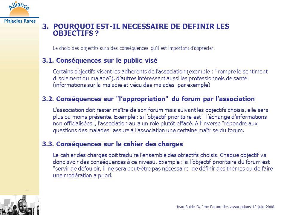 Jean Saide IX ème Forum des associations 13 juin 2008 4.