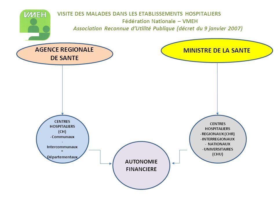 VISITE DES MALADES DANS LES ETABLISSEMENTS HOSPITALIERS Fédération Nationale – VMEH Association Reconnue dUtilité Publique (décret du 9 janvier 2007)
