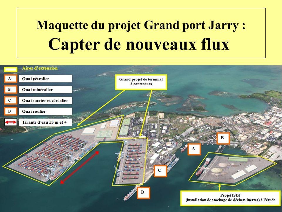 Maquette du projet Grand port Jarry : Capter de nouveaux flux