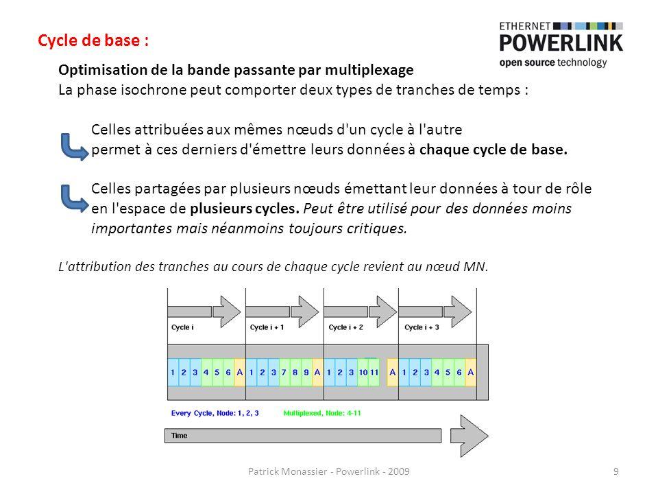 Optimisation de la bande passante par multiplexage La phase isochrone peut comporter deux types de tranches de temps : Celles attribuées aux mêmes nœu