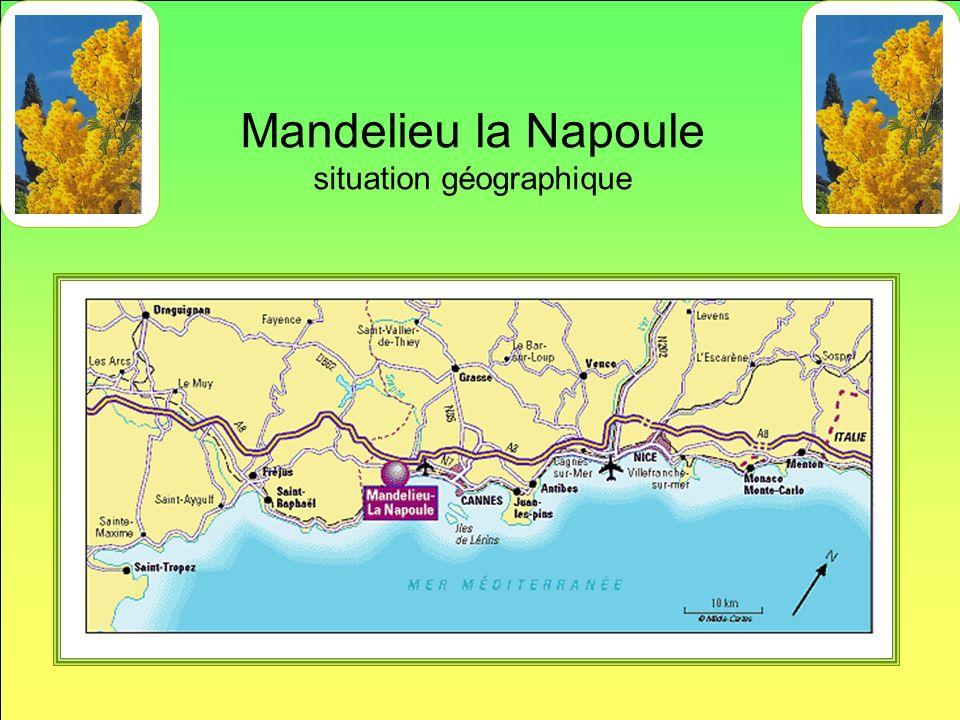 Mandelieu la Napoule situation géographique