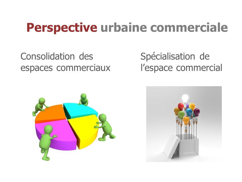 Consolidation des espaces commerciaux Spécialisation de lespace commercial Perspective urbaine commerciale