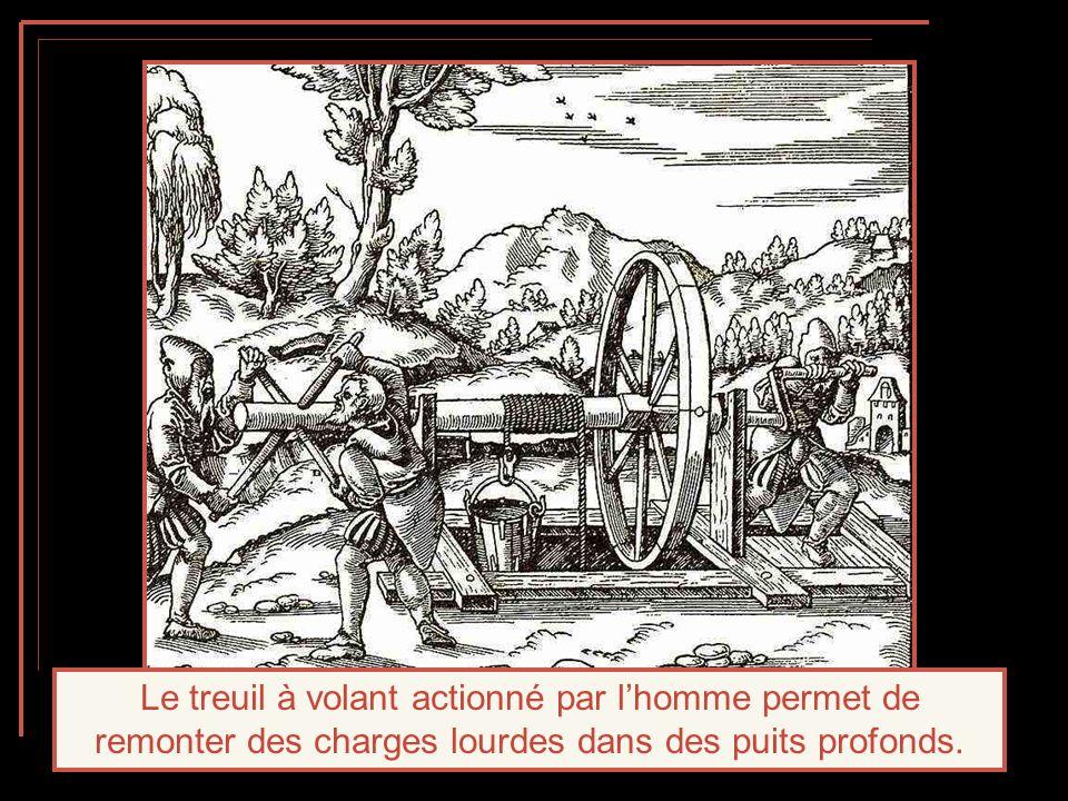 A partir de la base du puits, les mineurs creusent une galerie pour suivre le filon; elle mesure habituellement 1 pas et quart de haut et 3 pas 3 quarts de large.