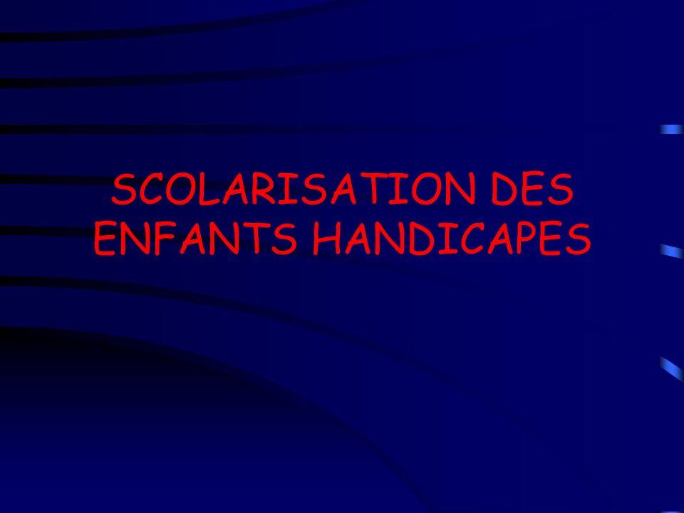 SCOLARISATION DES ENFANTS HANDICAPES