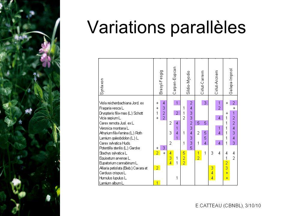 E.CATTEAU (CBNBL), 3/10/10 Variations parallèles