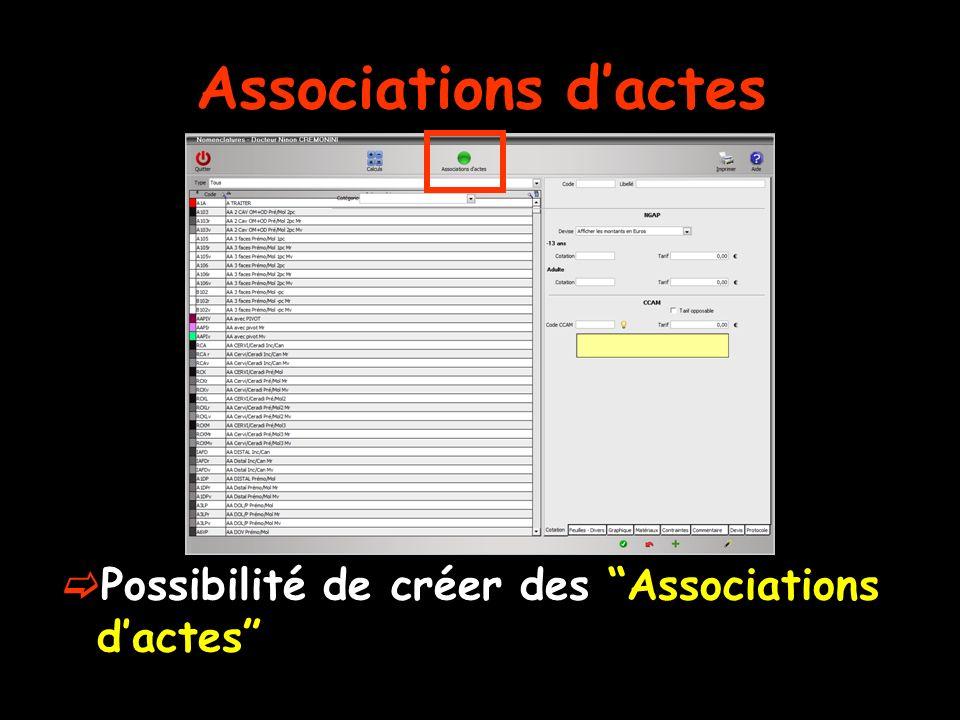 Associations dactes