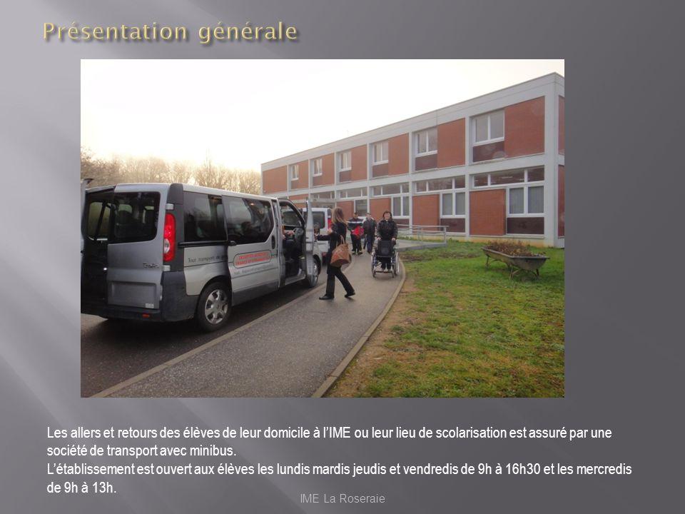 Les allers et retours des élèves de leur domicile à lIME ou leur lieu de scolarisation est assuré par une société de transport avec minibus. Létabliss