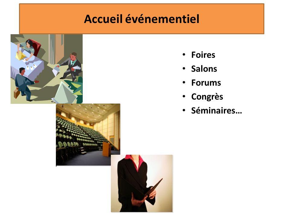 Foires Salons Forums Congrès Séminaires… ML/2012 Accueil événementiel